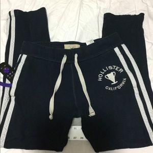 Hollister Navy Blue Sweatpants